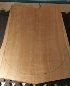 15'' Acoustic Archtop Figured Sinker Red Cedar Top
